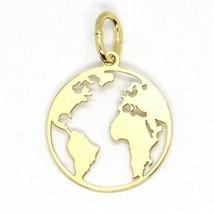 Gelb Gold Anhänger 750 18K, Weltkarte Gerade, Perforiert, 16 MM - $182.63