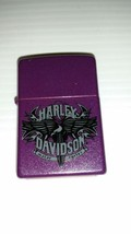Zippo Lighter - Harley Davidson - HD Eagle Wings - Purple Shimmer - Model 24023 - $49.49