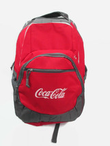 Coca-Cola Computer Pocket Backpack Red and Gray Canvas- BRAND NEW - $39.59