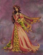 """""""The Queen Flower Fairy"""" Cross Stitch Kit w/ 16 Count Hand Dyed Aida - $79.19"""
