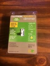 Lutron TG-603PGH-WH Toggler Eco-Dim 600-Watt Dimmer Light Switch, NEW - $10.00