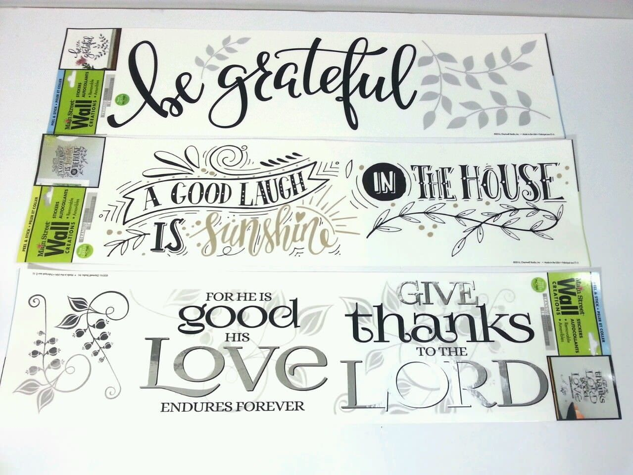 Bundle Of 3 Main Street Wall Creations Stickers Decals Removable 16 X 4.5    $11.29 Part 90