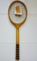 Antique Spalding woodstar Tennis Racket  Vintage old New stock with tags  - $37.39