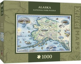 Alaska National Park Map 1000pc Jigsaw Puzzle by Masterpieces Puzzles Co #71840 - $36.99
