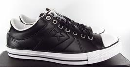 Embossed Player LEATHER 136788C Sneaker O BLACK Star Low Top Rise Converse Ox qSIw4xHFnf
