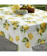 "Benson Mills Limoncello Lemons Indoor/Outdoor Tablecloth 104"" Oblong - $41.00"