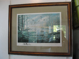 Ken Zylla original print, A Likely Refuge, Commemorative print, framed, ... - $90.25