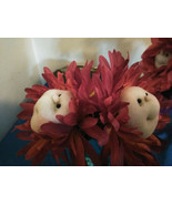 Bloom Buddies Flowers Hand Sewn Floral Arrangements with Glass Vase set ... - $29.16