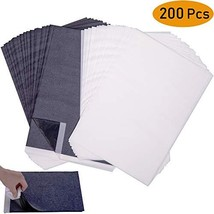 Wangday Carbon Paper, Large-Size Black Graphite Transfer Tracing Paper for Wood,