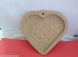 Brown Paper Art Cookie Mold Heart Quilt Design Nostalgic Baking Cook VTG... - $21.33