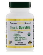 2 Pack Organic Pure Spirulina Vegetarian 500 mg 60 Tablets Green Superfo... - $17.46