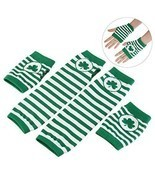 St Patricks Day Shamrock Irish Gloves Fingerless Arm Warmers Unisex 2 Pa... - $26.17 CAD