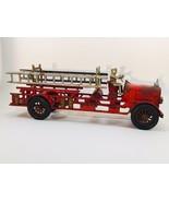 ANTIQUE, ORIGINAL 1930s HUBLEY CAST IRON FIRE LADDER TRUCK - $416.49
