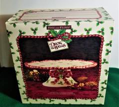 "Fitz and Floyd ""Deck the Halls"" Pedestal Cake Plate NIB - $29.99"