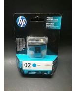 HP 02 Cyan C8774WN Ink Carts #140 GENUINE NEW!  Nov 2019 - $7.50