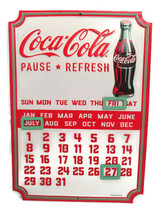 Coca-Cola Embossed Tin Calendar with Magnets for Date Change- BRAND NEW - $21.78