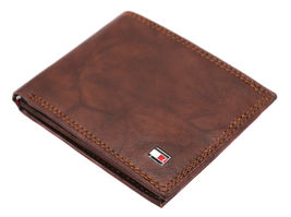 Tommy Hilfiger Men's Extra Capacity RFID Leather Traveler Wallet Tan 31TL240006 image 6