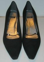 STUART WEITZMAN Pumps Womens 10.5 NNN Black Cloth Jeweled Elastic Straps  - $22.44