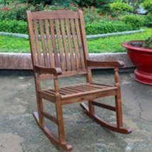 Outdoor Rocking Chair with UV Paint Antiqued Finish for Patio Garden Bac... - $160.19