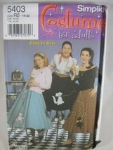 Simplicity 5403 Misses Plus 14 to 22 Poodle Cat Circular Skirt Costume P... - $3.92