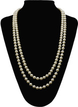 Flapper Girl Great Gatsby Faux Pearls Flapper Beads Cluster Long 1920s N... - $27.49