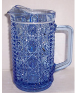 Vintage Designed Pressed Indiana Glass Creamer Serene Blue Color Collect... - $25.99