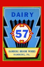 Dairy 57 Broom Label - Art Print - $19.99+