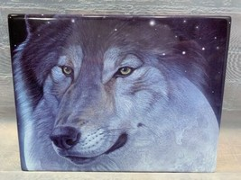 MOON SHADOWS Spirits of The Night Bradford Exchange Plate Wolf Wolves A140 - $18.70