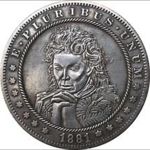 Rare New Hobo Nickel 1881 Morgan Dollar Man Casted Coin - $11.99