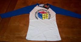 VINTAGE STYLE TEEN Juniors RUBIK'S CUBE Puzzle Long Sleeve T-shirt MEDIU... - $19.80