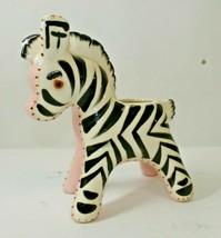 Vintage Napco Zebra Planter, Vintage Napco Baby Planter Ceramic - $29.99