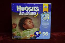 Huggies Overnites Diapers, Size 4, 56 Count Leak Lock Over Night Diaper ... - $24.74
