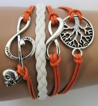 Fashion / Charm Bracelet Tree of Life, Infinity, Music symbol with Skull - $9.99