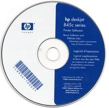 Hp Deskjet 845c series printer software cd-rom - $2.00