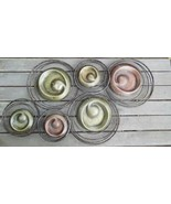 "Vintage Metal Wall Hanging Circles and Spirals  27 x 17"" - $39.00"