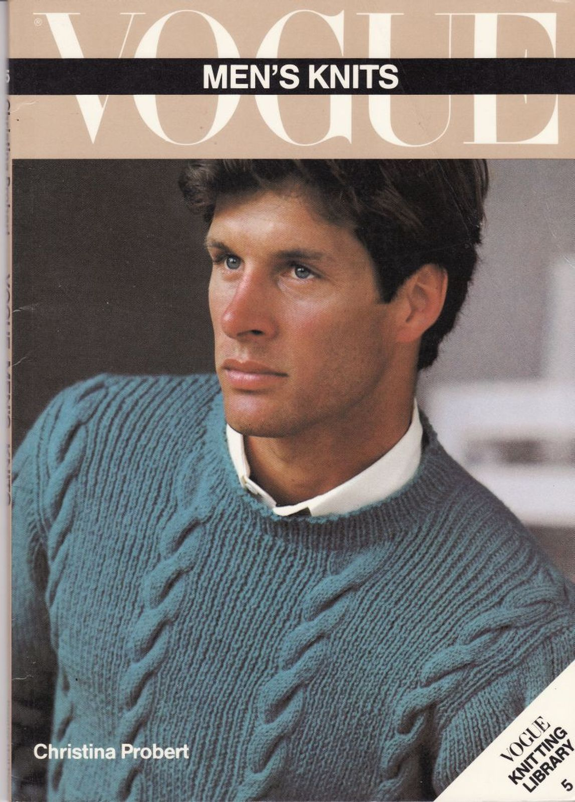 Vtg Vogue Mens Knits 25 Designs Tennis Sailing Ski Cricket Sweaters Patterns