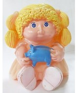 Cabbage patch kids piggy bank plastic doll star power blond hair peach b... - $28.71