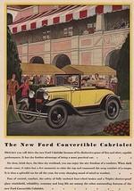 Orig Vintage Magazine AD/ 1930 Ford Convertible Cabriolet - $13.00