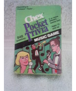 Vintage Chex Pocket Trivia Card Game Music 1984 - $4.99