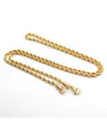 """24""""inch Mens / Women's Gold Plated 3mm Stainless Steel Twisted Rope Chain - $10.44"""