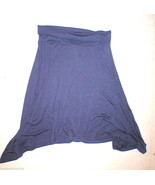 New Womens XS Gap Assymetrical Skirt Purple Fold Over Waist NWT Silky Tr... - $19.98