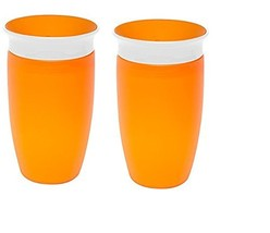 Munchkin Miracle 360 Sippy Cup, Orange, 10 Ounce, 2 Count - $17.05