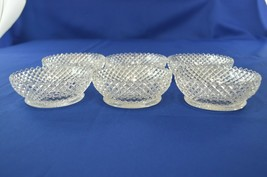 """6 Westmoreland Glass English Hobnail Nappy/Berry Bowl #555 4 1/2"""" Top Di... - $34.65"""