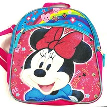Minnie Mouse Backpack Kids Size Sparkle Glitter Bow School Daycare New - $15.68