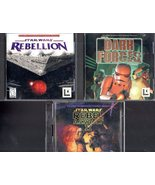 Star Wars - 3 PC Windows Games - Rebellion, Dark Forces, & Rebel Assauly II - $11.55
