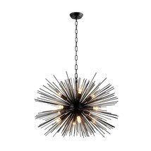 Decor 12-Light Black Sputnik Chandelier, LZ3330-12-B - $168.29