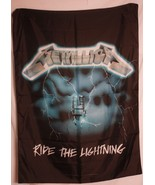 RARE Metallica Ride the Lightning Cloth Textile Poster Flag Tapestry Ban... - $29.69