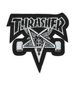 "THRASHER IRON ON PATCH 3"" Skateboard Magazine Goat Star Embroidered Appl... - $5.99"