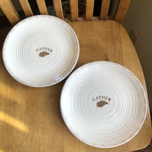 "Certified International Gather Fern Leaf Salad Dessert 9"" Plates Set Of 2 NWT - $14.85"