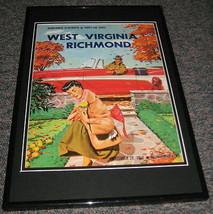 1956 WVU West Virginia vs Richmond Football Framed 10x14 Poster Official... - $32.36